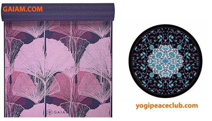 коврик для йоги дизайн круглый