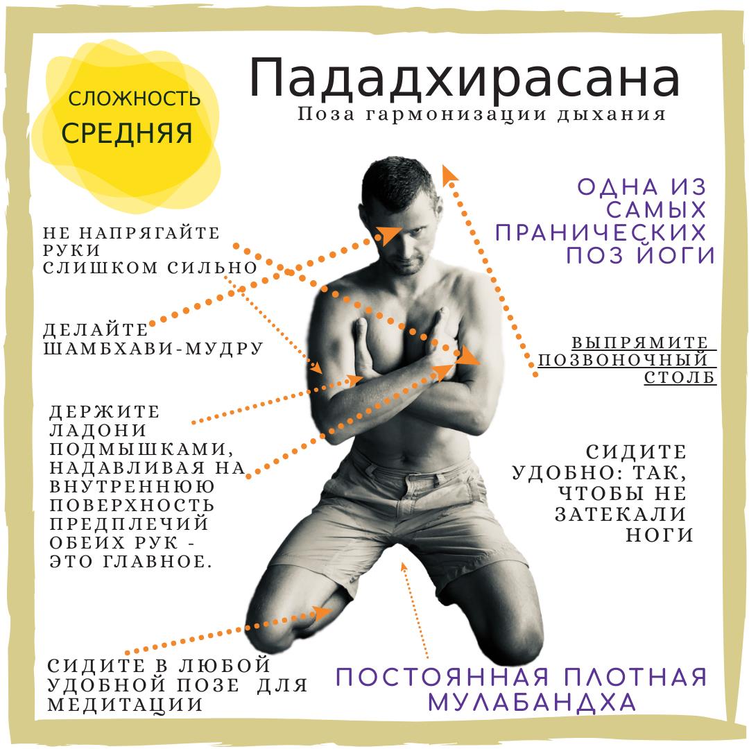 "Пададхирасана - малоизвестная ""Поза гармонизации дыхания"""